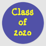 Class of 2020 round stickers