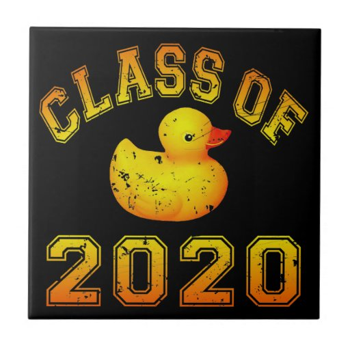 Class Of 2020 Rubber Duckie - Yellow Ceramic Tile