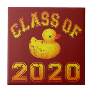 Class Of 2020 Rubber Duckie - Yellow Tiles