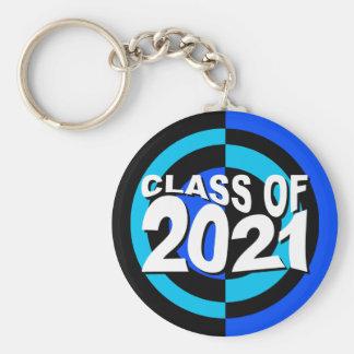 Class of 2021 Keychain Blue Black