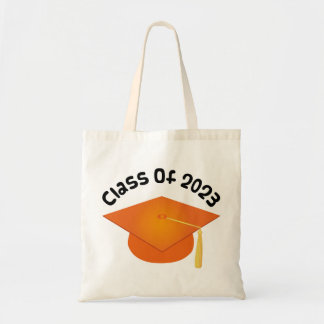 Class of 2023 Graduation Hat Gift Budget Tote Bag