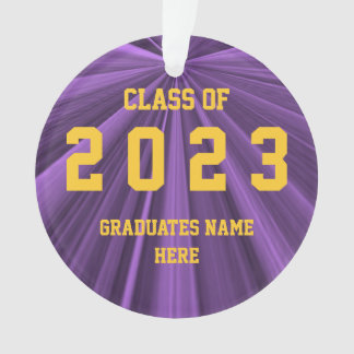 Class of 2023 Purple and Gold Ornament by Janz
