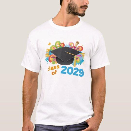 Class of 2029 Graduate Hat Gift Idea T-Shirt