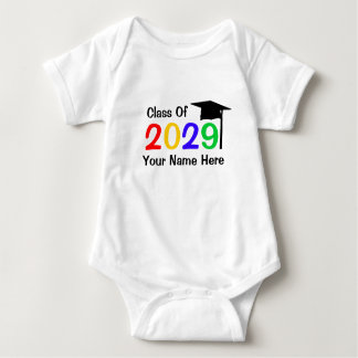 class of 2029 infant graduation baby bodysuit