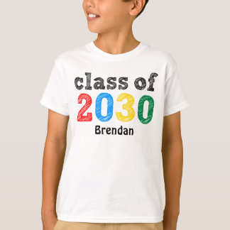 Class of 2030 Personalized T-Shirt