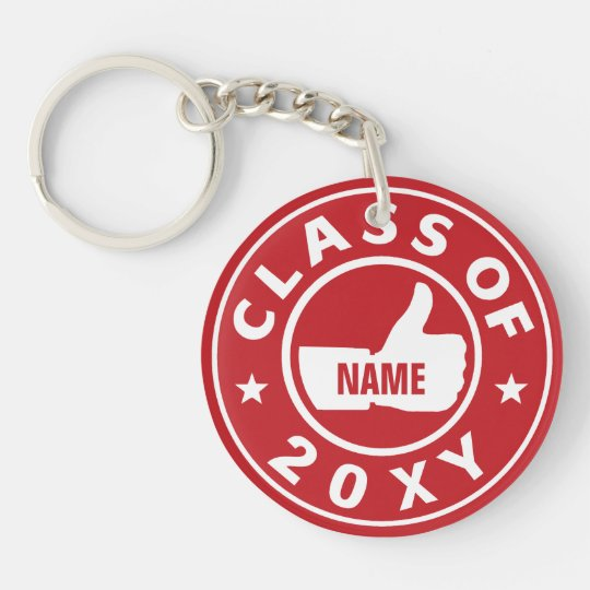 Class of 20?? Single-Sided round acrylic key ring