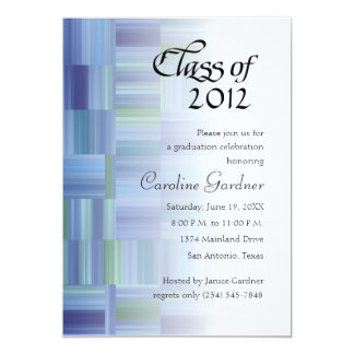 Class of 20XX  Color Blocks and Stripes Card