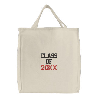 CLASS OF  20XX Custom Year Graduation Embroidered Bag