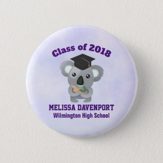 Class of 20xx Cute Koala Bear in Graduation Cap 6 Cm Round Badge