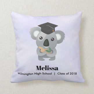 Class of 20xx Cute Koala Bear in Graduation Cap Cushion