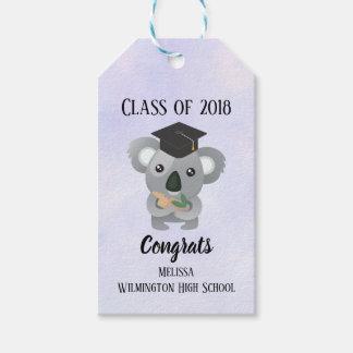 Class of 20xx Cute Koala Bear in Graduation Cap Gift Tags