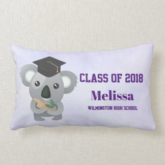 Class of 20xx Cute Koala Bear in Graduation Cap Lumbar Cushion