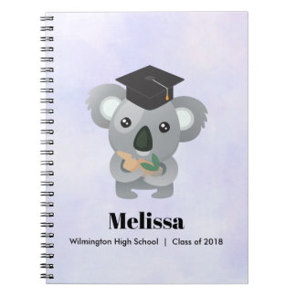 Class of 20xx Cute Koala Bear in Graduation Cap Notebook