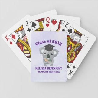 Class of 20xx Cute Koala Bear in Graduation Cap Playing Cards