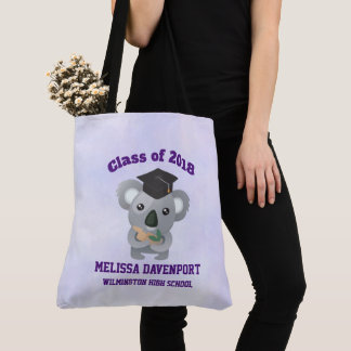 Class of 20xx Cute Koala Bear in Graduation Cap Tote Bag