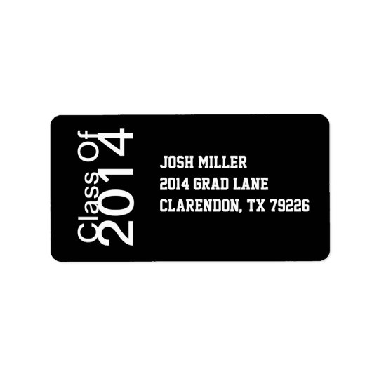 Class of 20XX Graduation Address Labels