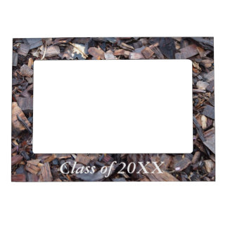 Class of 20XX magnetic frame - wood chip