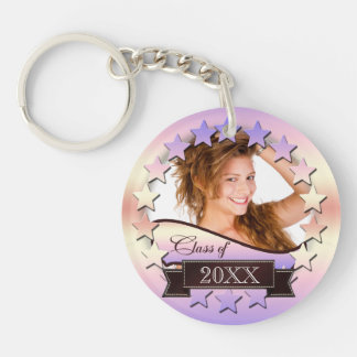 Class of 20XX Stars Pink 2XCO Double-Sided Round Acrylic Key Ring
