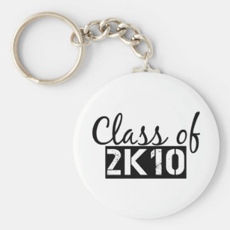 class of 2k10 (2010) basic round button key ring