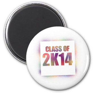 class of 2k14, class of 2014 6 cm round magnet