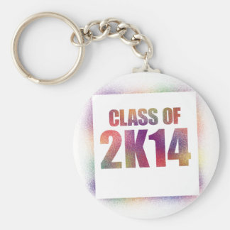 class of 2k14, class of 2014 basic round button key ring
