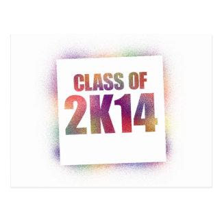 class of 2k14, class of 2014 postcard