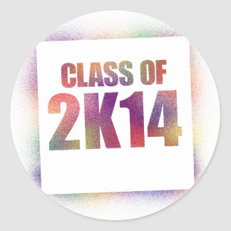 class of 2k14, class of 2014 round sticker
