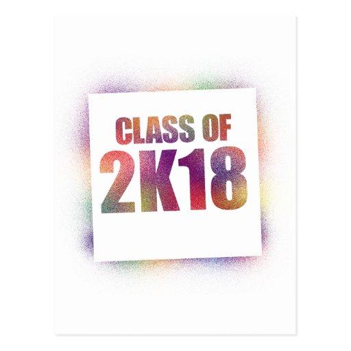 class of 2k18, class of 2018 postcard