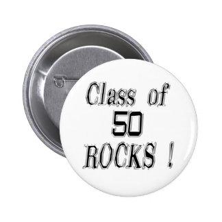 Class of 50 Rocks Button
