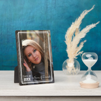 """""""Class of __"""" 5x7 Vertical White Border Photo Plaques"""