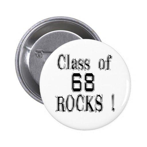 Class of '68 Rocks! Button