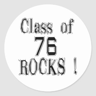 Class of '76 Rocks! Sticker