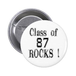 Class of '87 Rocks! Button