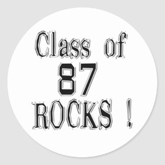 Class of '87 Rocks! Sticker