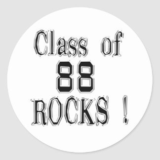 Class of '88 Rocks! Sticker