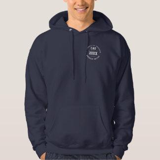 class of academic marine blue grad hoodie