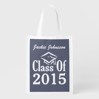 Class of ANY year custom text & color reusable bag