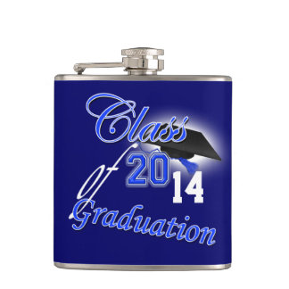 Class of any year graduation hip flask