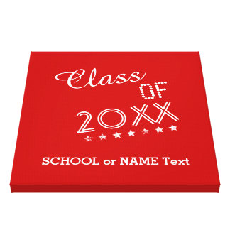 Class of ANY YEAR Text Design Grunge Stars A06 Canvas Print