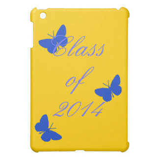 Class of - Blue and Gold Butterfly iPad Mini Covers