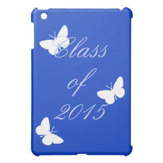 Class of - Blue and White Butterfly Case For The iPad Mini