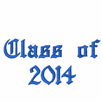 Class of - Blue Embroidered Hooded Sweatshirts