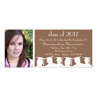 Class Of Graduation Invitation (Brown Silhouette)