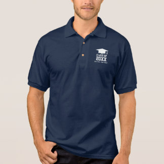 Class of graduation party polo shirt for graduates