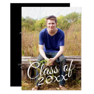 Class of Graduation Photo Announcement Invitation