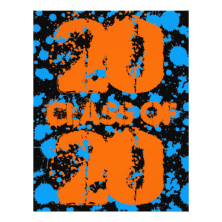 Class of Graffiti Art Black Blue Splatter Paint 21.5 Cm X 28 Cm Flyer