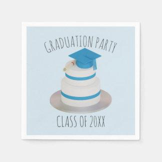 Class of Pale Blue Graduation Party Paper Napkins