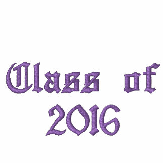 Class of - Purple Embroidered Hoodies
