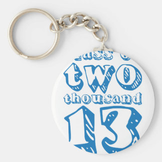 Class of two thousand 13 - Blue Basic Round Button Key Ring