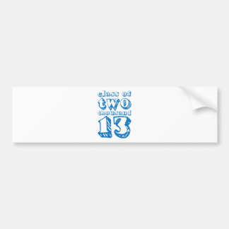 Class of two thousand 13 - Blue Bumper Stickers